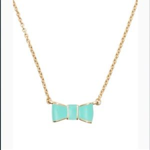 Kate Spade Blue & Gold Bow Necklace